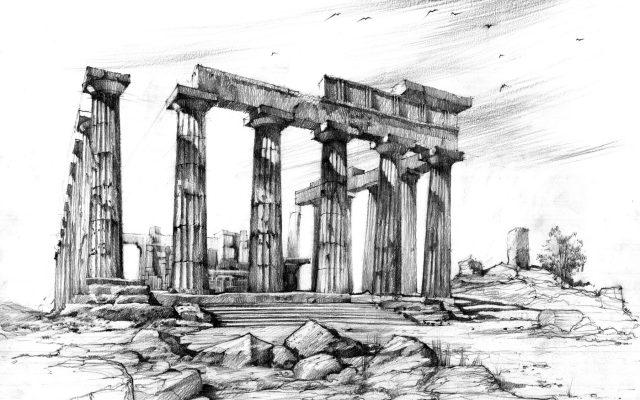 rysunek starożytna grecja