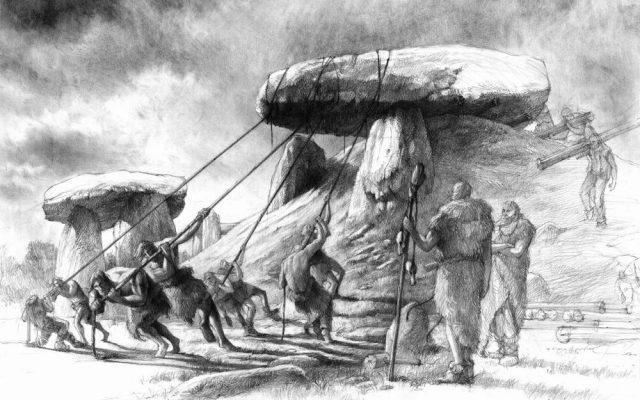 Rysunek ołówkiem dolmen