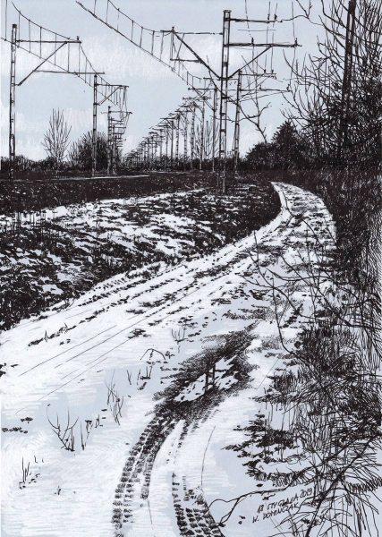 Rysunek zimy Wojciech Domińczak