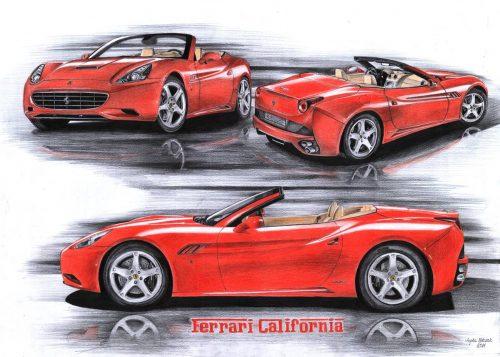 rysowaniw samochodów ferrari