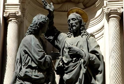 św tomasz i chrystus orsanmichele