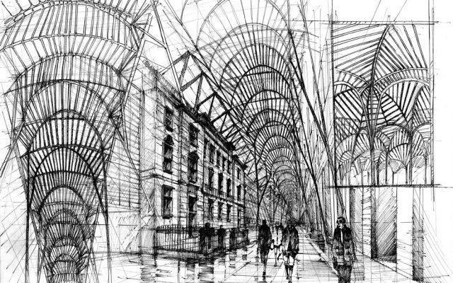 pióro cienkopis architektura