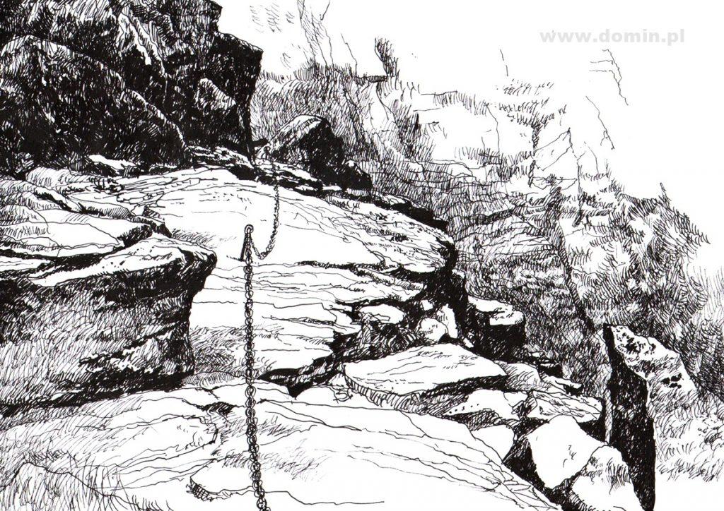 rysownie piórkiem skał