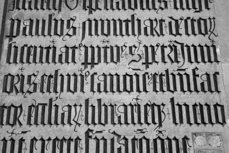 pismo gotyckie
