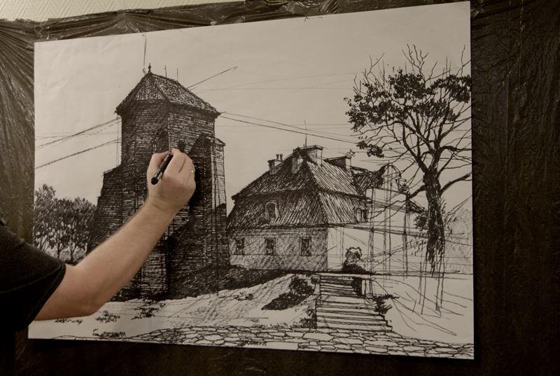 rysowanie architektury na zywo