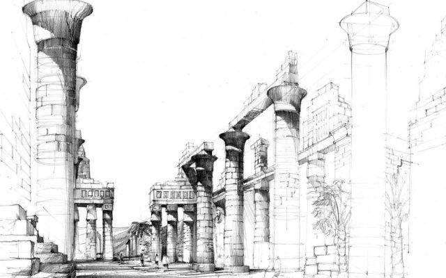 egipt w rysunku