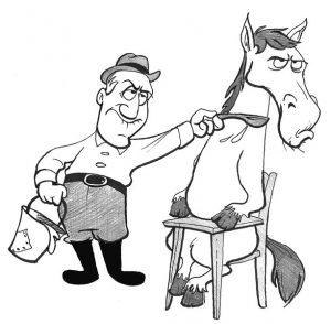 można konia doprowadzić do wodopoju ale nie można go zmusić żeby się napił