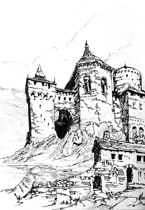 rysunek architektoniczny perspektywa