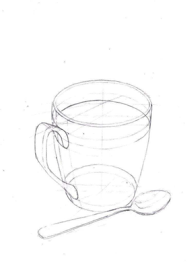 rysunek od podstaw filiżanki