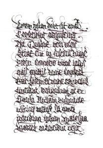Zajęcia z kaligrafii